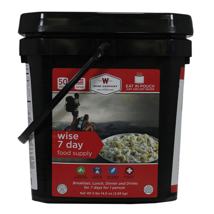 Wise 7day Foodsupplybucket Campingpouches