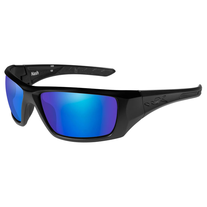 Polarized Blue Mirror-matte Black Frame
