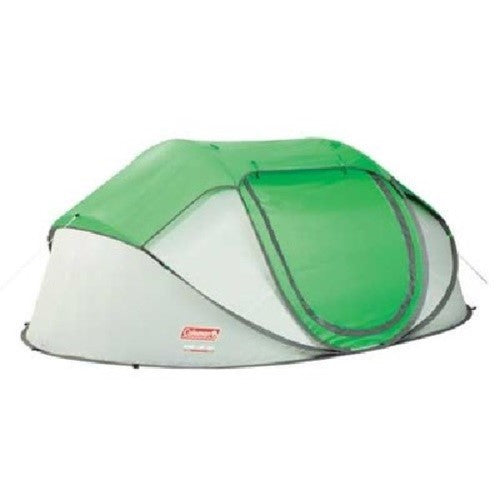 Coleman Popup 4 Tent 9.25x6.5 Foot Green-Lght Gry 2000014782