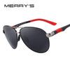 MERRY'S DESIGN Men Classic Pilot Sunglasses HD Polarized Sunglasses For Driving Aviation Alloy Frame Spring Legs UV400 S'8404