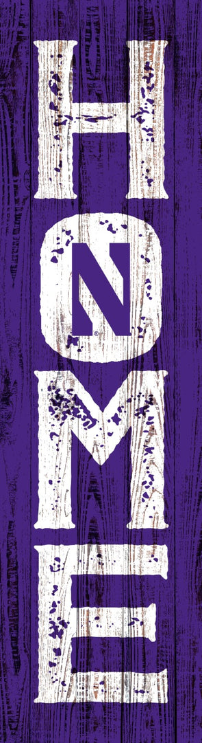 Northwestern Wildcats College Home Plaque