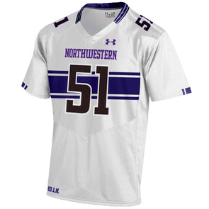 Northwestern Wildcats 2016 Under Armour® Adult Football Replica Jersey - White