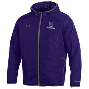Northwestern Wildcats Under Armour Coldgear Fleece Puffer Jacket