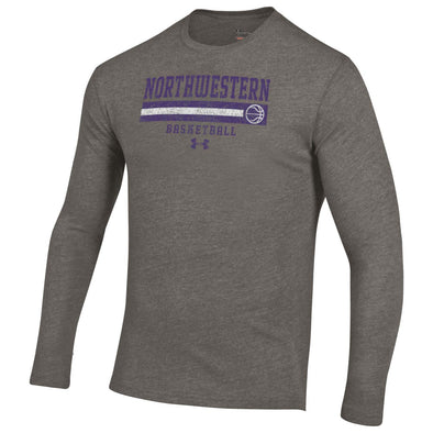 Northwestern Wildcats Under Armour Old School Basketball Tee-Long Sleeve