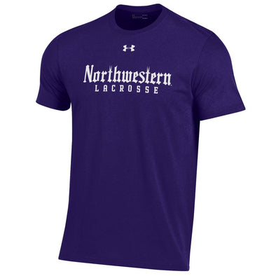 Northwestern Wildcats Under Armour Purple Gothic Lacrosse Tee S/S