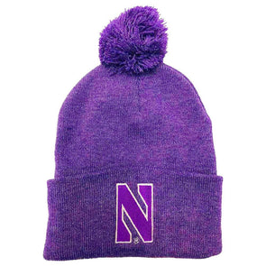 Northwestern Wildcats Purple Heather Pom Knit