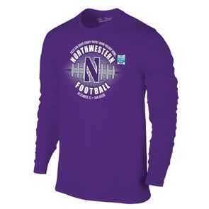 Northwestern Wildcats Holiday Bowl Long Sleeve