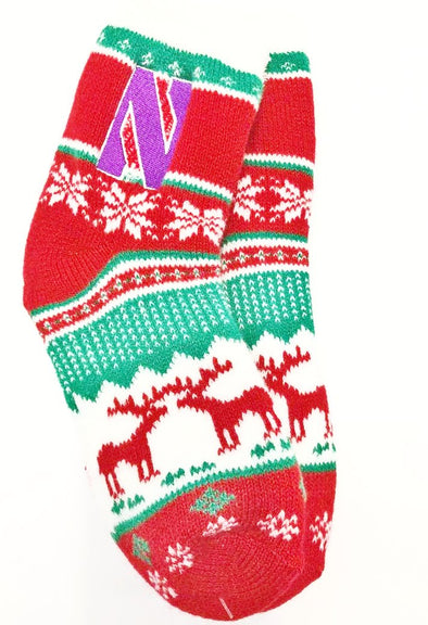 Northwestern Wildcats Ugly Christmas Socks