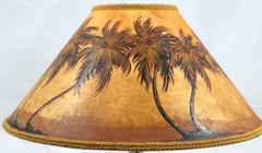 Windy Palms Light Finish 18 Inch Medium Lampshade