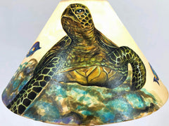 Large Green Sea Turtle 18 Inch Tall Lampshade