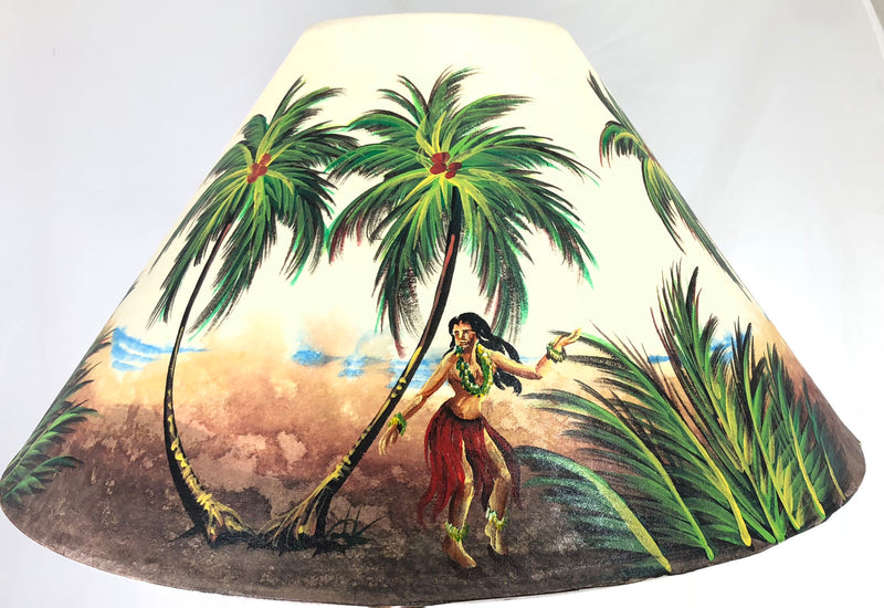 Hula Girl on Beach Red Skirt 20 Inch Shade (5.5 x 12 x 20)