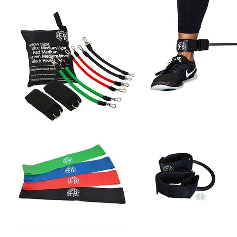 Premium Glute Workout Resistance Band Leg Thighs and Kinetic Training Set