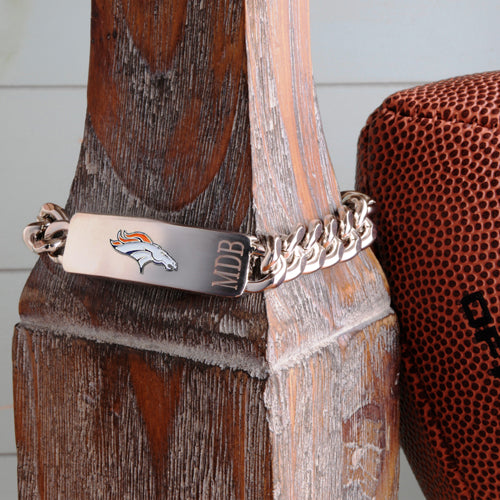 Personalized NFL Fan Favorite Bracelet - Denver Broncos