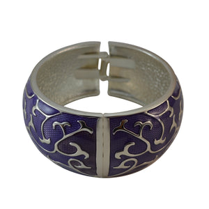 Sarah Feminine Fashion Purple Enamel Cuff Bangle for Girls and Women