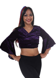 Belly Dance Velvet Choli Tie Top | MELOURA