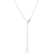 Mandy 0.45ct CZ Two-tone Triple Heart Drop Necklace