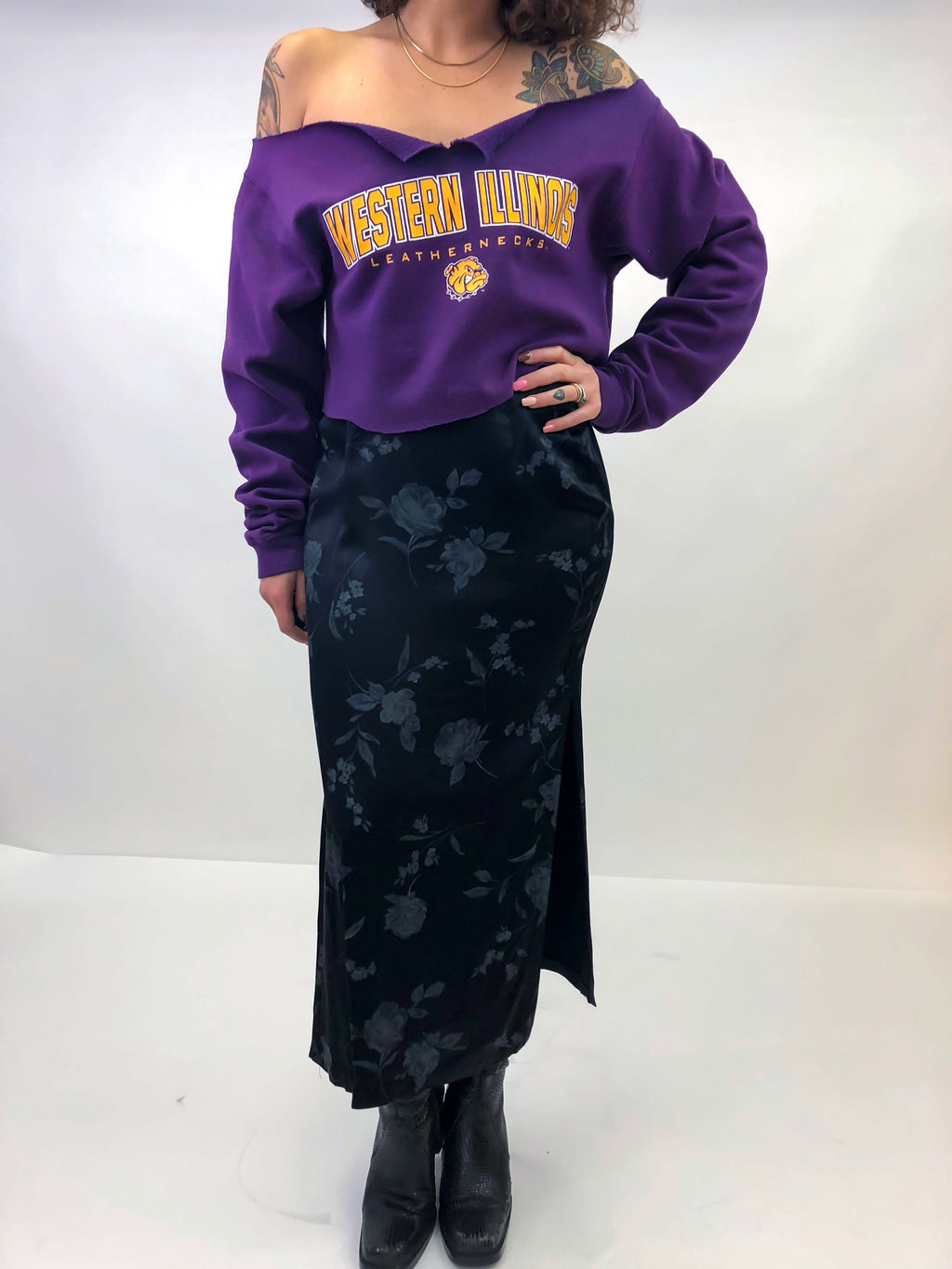 Vintage Cut Up Sweatshirt : Medium : The Leatherneck Sweater