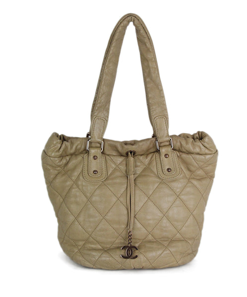 Chanel Tan Leather Tote 1