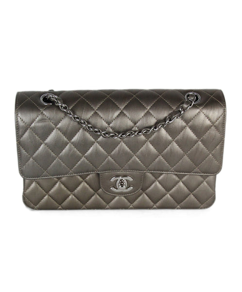 Chanel Metallic Bronze Quilted Leather Shoulder Bag 1