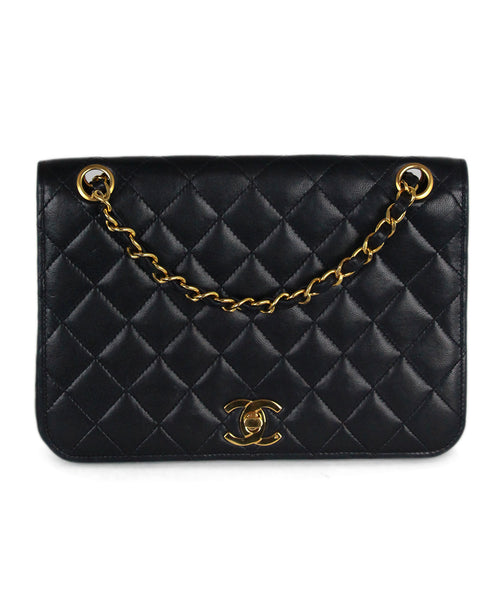 Chanel navy leather bag 1