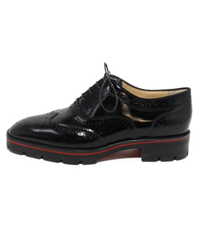 Christian Louboutin black patent leather oxfords 1