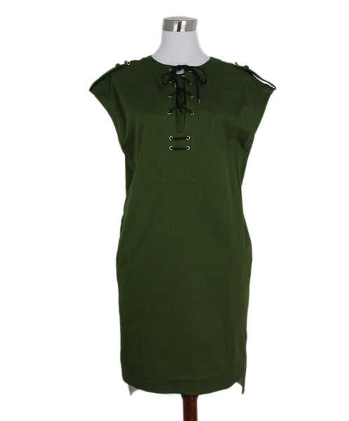 Derek Lam olive green lace up dress 1