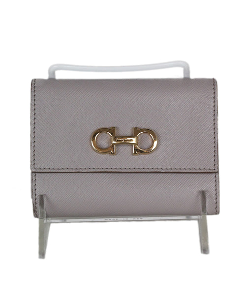 Ferragamo Taupe Leather Goods Wallet 1