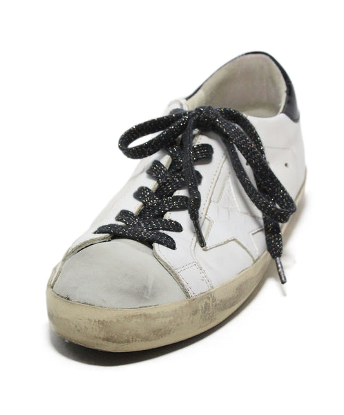 Golden Goose White Grey Leather Sneakers 1