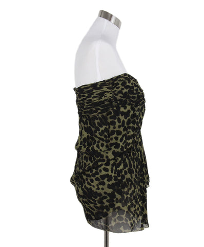 Isabel Marant Cheetah Print Ruched Strapless Top 1