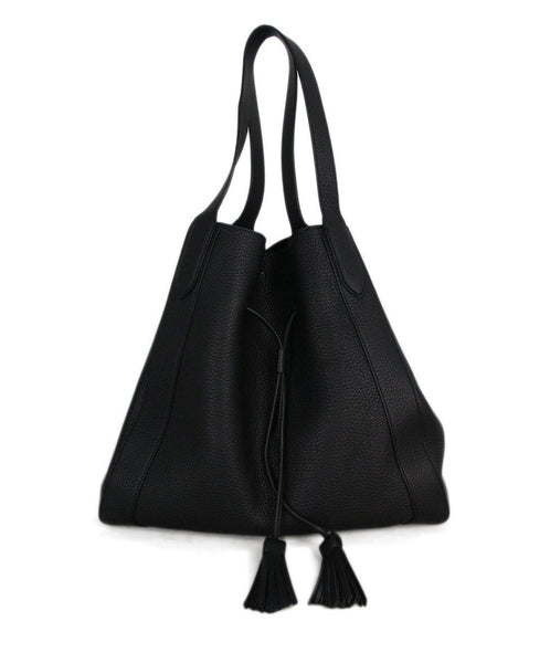 Mulberry black grained leather tote 1