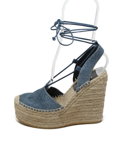 Saint Laurent Blue Denim Espadrilles Wedges 1