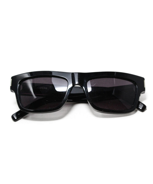 Saint Laurent Black Plastic Sunglasses 1
