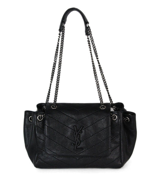 YSL Black Leather Nolita Medium Bag 1