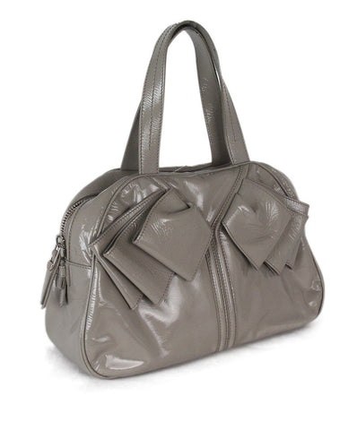 YSL grey patent leather tote 1