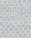 Honeycomb Woven Wool Rug, French Blue