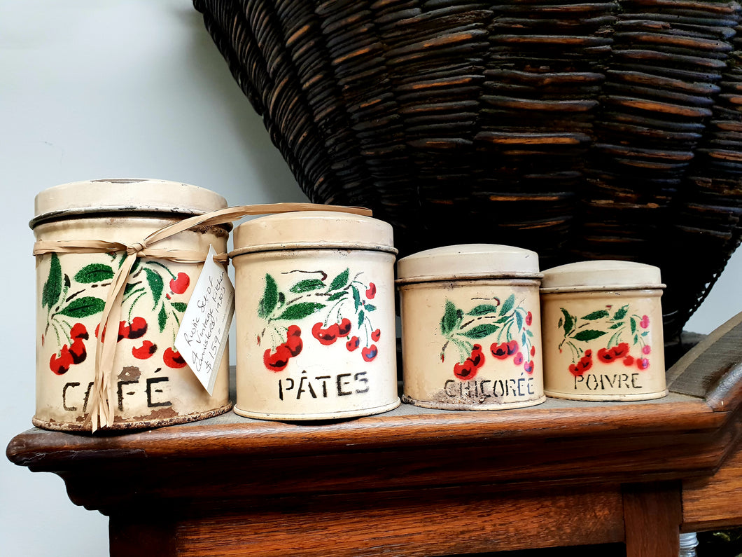 Vintage French canisters