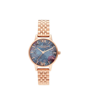 Olivia Burton Floral Rose Gold Metal Watch