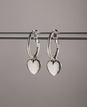Danon Chunky mini-heart hoop earrings