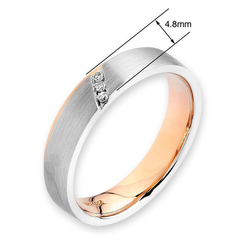 18k White & Rose Gold Ring with Diamonds (0.091ct)