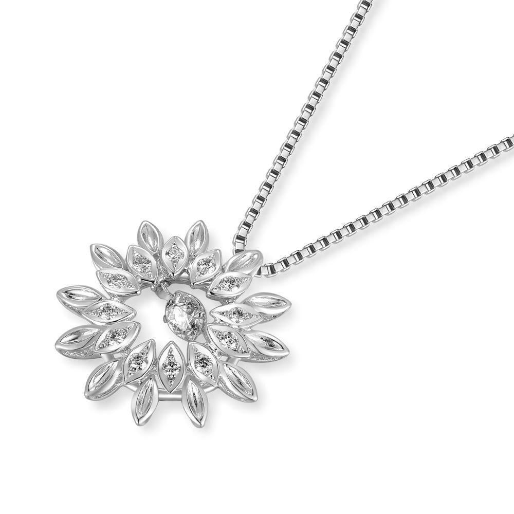 Dancing Diamonds Flower Pendant in 18k White Gold with Diamonds (0.247ct) Pendant IAD
