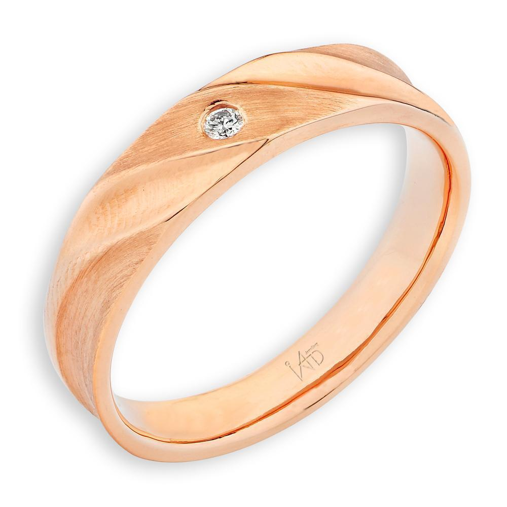 Men's Ring in 18k Yellow Gold with Diamonds (0.021ct) Men's Ring Olivia Davenport Fine Jewels