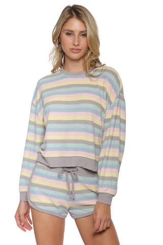 Z Supply Rainbow Stripe Pullover