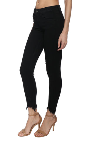 Flying Monkey Fray Hem Ankle Skinny