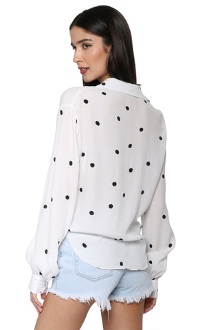 Robertson & Rodeo Polka Dot Knot Top