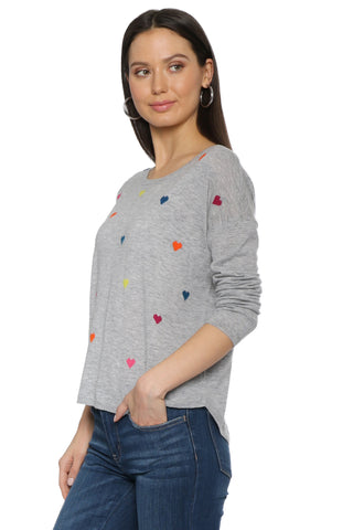 WYSE Margot Hearts Sweater