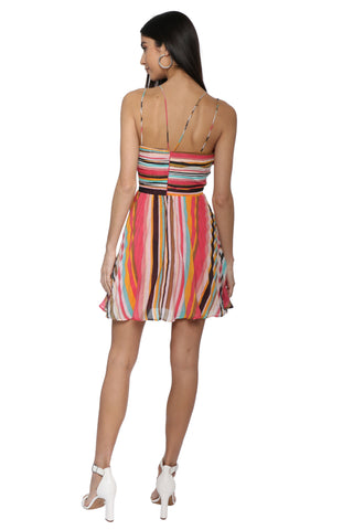 Robertson & Rodeo Stripe Twist Front Dress