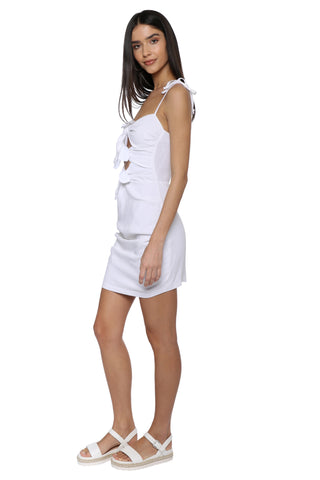 W.A.P.G. Tied Front Mini Dress