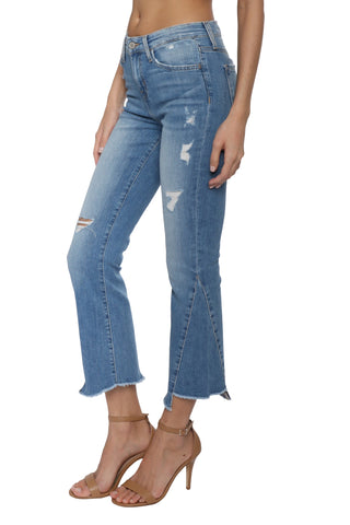 Flying Monkey HR Uneven Hem Crop Flare