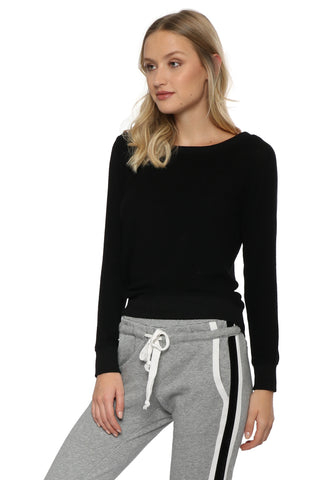 Z Supply Marled Off Shoulder Pullover