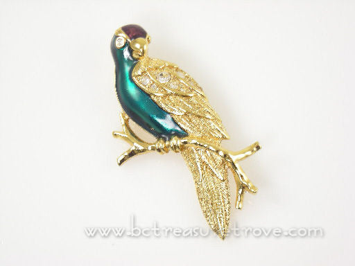 Avon Tropical Bird Brooch